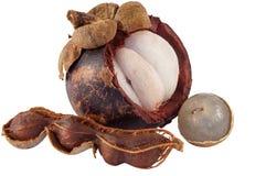 Longan, Mangostanfrucht und Tamarinde Lizenzfreie Stockfotos