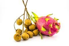 Longan- och drakefrukt Royaltyfri Foto