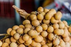 longan owoc od rolników wprowadzać na rynek Obrazy Royalty Free