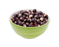 Longan seeds in a cup. with clipping path. Stock Images