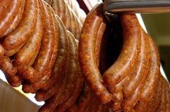 Longanizas or pork sausages for sale Royalty Free Stock Photos