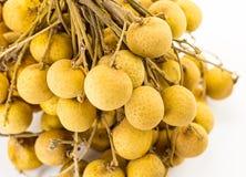 Longanniederlassungssatz des gelben Fruchtsüßspeisesnacks Thailand Stockfoto