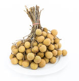 Longans fruits isolated Stock Image