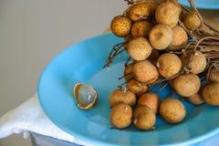 Longans Yai tropikalna owoc w Thailand zdjęcia royalty free