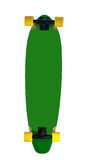 Longboard. Back view of wooden longboard (skateboard)  on white background Royalty Free Stock Photos
