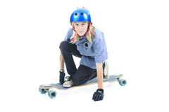 Longboard boy Stock Image