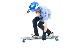 Longboard boy Royalty Free Stock Images