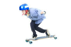 Longboard boy Stock Photo