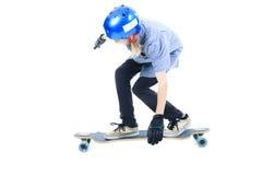 Longboard chłopiec Obraz Stock