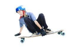 Longboard chłopiec Zdjęcie Stock