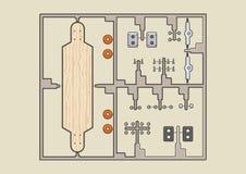 Longboard de jouet Image libre de droits