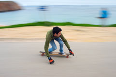 Longboard downhill Royalty Free Stock Images