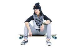 Longboard girl Royalty Free Stock Photography