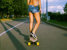 Longboard girl Stock Photos
