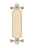 Longboard. Illustration of wooden long board Stock Photo