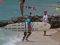 longboard kamu auwae Стоковая Фотография RF