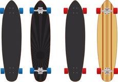 Longboard skateboard Royaltyfri Foto