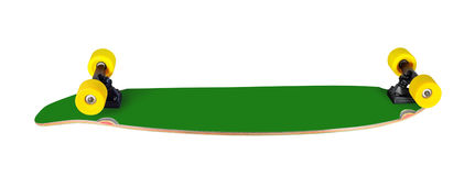 Longboard (skateboard). Back and side view of longboard (skateboard)  on white background Royalty Free Stock Photos