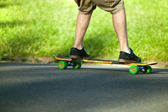 Longboarder Closeup Royalty Free Stock Photo