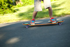 Longboarder Closeup Royalty Free Stock Photos