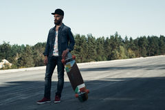 Longboarder on the spot Royalty Free Stock Photo