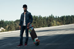 Longboarder on the spot Royalty Free Stock Photography