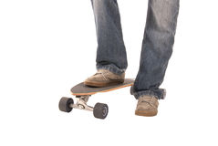 Longboarder taken from front view knees down only Royalty Free Stock Photo