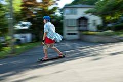 Longboarder Teen Stock Image