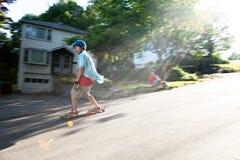 Longboarding-Lebensstil Photoshoot Lizenzfreie Stockfotografie