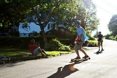 Longboarding-Lebensstil-Trieb Stockfotografie