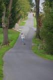 Longboarding Mann Stockfotografie