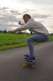 Longboarding Mann Stockbild