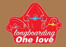 Longboards стикера 3 иллюстрация штока