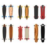 Longboards a placé deux côtés Photographie stock libre de droits