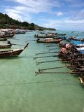 Longboat Bay, Phi Phi Island, Thailand. Large number of longboats moored at Phi Phi Island, Thailand Royalty Free Stock Photo
