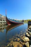Longboat de Viquingue em Roskilde Imagem de Stock Royalty Free