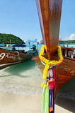 Longboat details. Longboats. Photographed in the Phi Phi Don island, Thailand Royalty Free Stock Photography