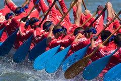 Longboat que compete em Pattaya, Tailândia Fotografia de Stock Royalty Free
