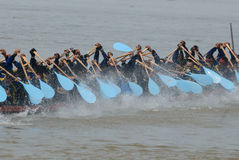 Longboat racing Royalty Free Stock Image