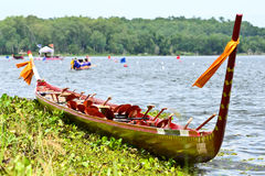 Longboat racing in Pattaya, Thailand. The annual longboat races were arranged at the Maprachan Lake Stock Image