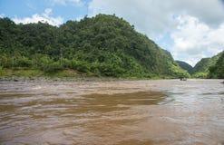 Longboat Ride on Navua River Royalty Free Stock Photo