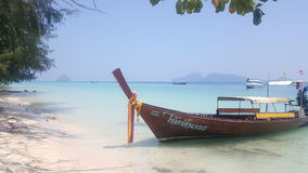Longboat w Thailnad Obraz Royalty Free