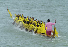 Longboatrennen Stockfoto