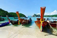 Longboats in Andaman sea Royalty Free Stock Image