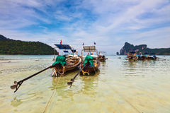 Longboats on Phi Phi island, Stock Photography