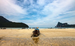 Longboats on Phi Phi island, Stock Image