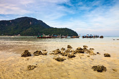 Longboats on Phi Phi island, Stock Images
