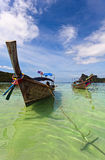 Longboats on Phi Phi island, Royalty Free Stock Photos