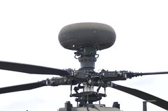 Longbow millimeter-wave radar close-up. The longbow millimeter-wave radar device in Apache attack helicopter main rotor royalty free stock images