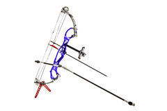Longbow on stand isolated in white Royalty Free Stock Photos